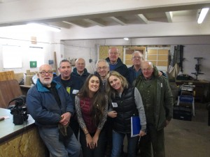 Some of the shed members who met with the BBC producers