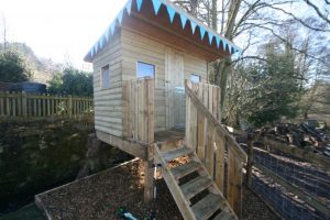 Lucy's playhouse built by shed members